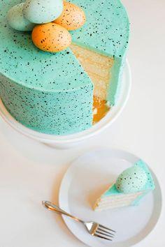 Speckled Egg Cake | The Cake Blog