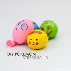 DIY Pokemon Stress Balls, DIY and Crafts, Easy DIY Pokemon inspired stress balls for kids from And Next Comes L. Crafts For Boys, Diy For Kids, Gifts For Kids, Easy Crafts, Easy Diy, Easy Pokemon, Pokemon Craft, Pokemon Birthday, Pokemon Party