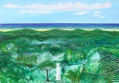 #artist Andy Jefferson #painting Jamaica Land We Love showing at EJ #artgallery | Experience Jamaique
