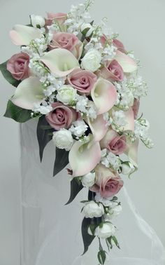 Latest No Cost Bridal Bouquets calla lillies Thoughts Probably the most crucial bridal dress accessories, the actual engagement bride's bouquet, is ready in line wi. Cascading Wedding Bouquets, Cascade Bouquet, Bride Bouquets, Bridal Flowers, Bridal Boquette, Red Bridal Bouquets, Red Rose Bouquet, Rose Wedding Bouquet, Floral Wedding