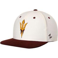 hot sale online ccb79 90763 Arizona State Sun Devils Zephyr Z11 Adjustable Snapback Hat - Cream Maroon