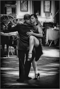 tango. black and white photography