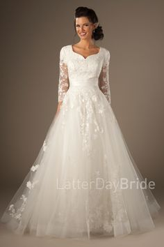 Gwenevere- $1455 -from the Latterday Bride Collection, found at Gateway Bridal in SLC