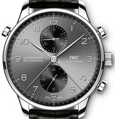 Three New IWC Portugieser Chronograph Rattrapante Watches Honor Cities Of Milan, Paris, & Munich Watch Releases Dream Watches, Cool Watches, Black Watches, Men's Accessories, Iwc Watches, Wrist Watches, Der Gentleman, Luxury Watches For Men, Men's Watches