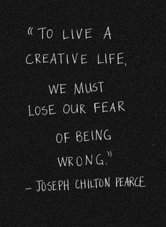 Fear of being wrong