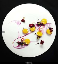 FirstPEachMini #food #art #Artist #french #chef #cooking #painting #plating #color #topchef #michelin #taste #cuisine #gastronomie