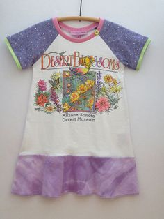Upcycled OOAK  Size 5 TShirt Dress Desert Blossom by TwoSweetMamas, $35.00