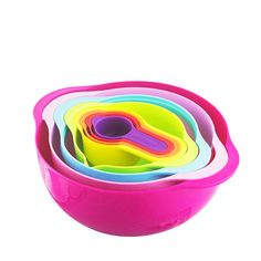 Multi-function rainbow bowl 8 sets Measuring spoon Mixing bowl/kitchen Basin Baking measuring cup utensils cooking tools crock pot ~*~ Click the image for AliExpress.com. #KitchenMeasuringTools