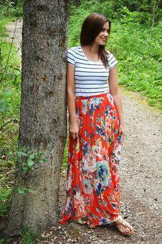 bornlippy // floral maxi skirt