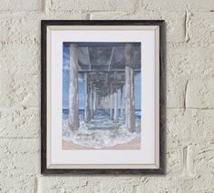 Original Painting Under the Huntington Beach Pier by OffRiverRoad on Etsy https://www.etsy.com/listing/249239172/original-painting-under-the-huntington