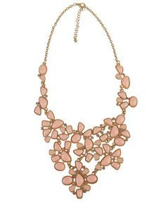 Draping stone necklace