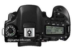 Canon EOS 80D DSLR camera top
