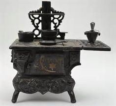 Antique Montgomery Ward Cast Iron Wood Burning Stove Rare