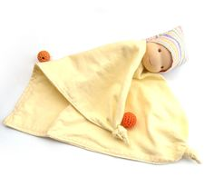 waldorf+classic+toys+Teething+Blanket+doll++pastel+by+LaFiabaRussa,+€18.00
