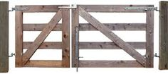 Image result for timber 3 rail fence with metal gate