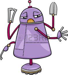 Robot character cartoon vector image on VectorStock Robots Characters, Fictional Characters, Science Fiction, Vector Free, Funny, Stock Photos, Cartoon, Random, Ideas