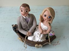 Fishing Wedding Topper With Couple Toppers Fisherman Bride And Groom In At