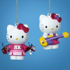 Club Pack of 24 Hello Kitty Cheerleader and Rock Star Christmas Ornaments Review Buy Now
