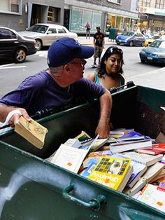 "Dumpster Diving. ""Free Books?"""