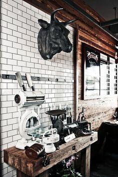 Little Alley Steak House, restaurant, rustic, industrial, retro, interior design, unique style, idea, wood
