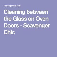 Cleaning between the Glass on Oven Doors - Scavenger Chic