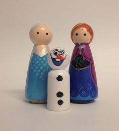 Frozen Trio by mozydoats on Etsy