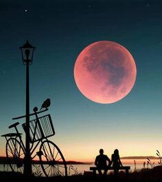 Image may contain: sky, cloud and outdoor Beautiful Moon, Beautiful Images, Love Wallpaper, Wallpaper Backgrounds, Silhouette Fotografie, Best Couple Pictures, Mystic Moon, Silhouette Photography, Moon Illustration