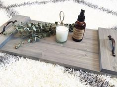 Rustic Wooden Tray Wooden Tray Rustic Decor by DunnRusticDesigns