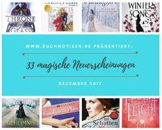 33 magische Neuerscheinungen im Dezember 2017 | Buchnotizen