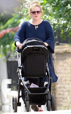 Adele pushing baby Angelo in the VISTA.