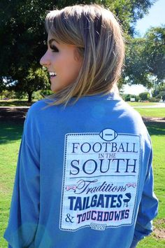 the BRAND NEW football in the SOUTH long sleeve is here!! yay! @jadelynnbrooke…