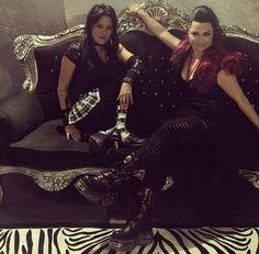 Amy Lee e Jen. Divas! Julho de 2017.