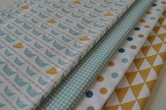 Beau tissu, frais, sympa et tendance. Idéal pour vos créations textiles: pochette, étui, trousse, sacoche, fichu, patchwork, cartonnage ...   Lot de 4 coupons tissus gamme gra - 6864546