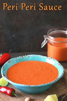 African Peri Peri Sauce / Piri Piri Suace is deeply Flavorful which is made with Spicy red chilies, lemons, garlic and red bell perppers with couple of other ingredients. This sauce is a must have for spicy food lovers. This Peri Peri Sauce is the bomb and you should have it in your fridge.