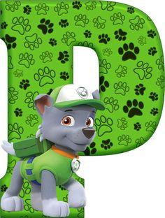 *✿**✿*P*✿**✿*DE ALFABETO DECORATIVO Dog Themed Parties, 3rd Birthday Parties, 4th Birthday, Paw Patrol Party, Paw Patrol Birthday, Paw Patrol Clipart, Paw Patrol Rocky, Cumple Paw Patrol, Doll House Plans