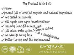 Eğer bu gün bir OCS salonuna giderseniz: -Vegan -Tümüyle organik sertifikalı ve doğal katkılı maddelerle paketlenmiş -Hayvanlar üzerinden test edilmemiş -Gerçekten yıpranmış saçlara dahi gerekli bakımı yapan -İnanılmaz iyi sonuçlar veren -Renklendirme, bakım ve şekillendirmeyi bir arada sunabilen -Saçlarınıza zarar vermeyen -Saçlarınız ve çevre için en sağlıklı olan ürünleri tercih etmiş olursunuz!