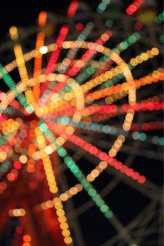 rainbow on a ferris wheel