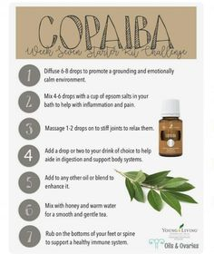 What to do with Copaiba