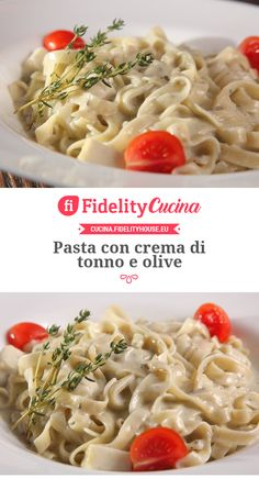 Pasta mit Thunfischcreme und Oliven - Pasta con olive e tonno e Philadelphia -. - Pratik Hızlı ve Kolay Yemek Tarifleri Food Porn, Food Obsession, Olive, Pasta Dishes, Pasta Recipes, Italian Recipes, Food And Drink, Easy Meals, Healthy Recipes