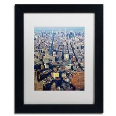 """Trademark Global 'Lower Manhattan' by CATeyes Framed Photographic Print Size: 14"""" H x 11"""" W x 0.5"""" D, Matte Color: White"""