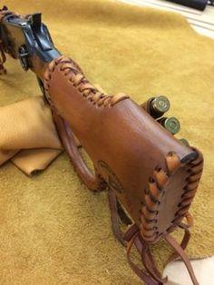 Leather Gunstock /forearm Cover/Shell HolderFor Henry Mares Leg Rossi Ranch Hand