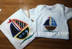 Sailboat Applique Embroider file