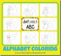 Just Color Alphabet