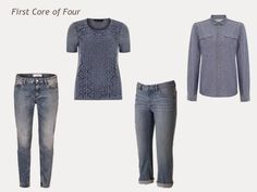 A Four by Four Capsule Wardrobe in Denim, Grey, Pink and Rose | The Vivienne Files These in olive