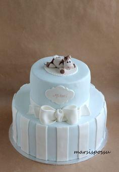 Marsispossu: Ristiäiskakku pojalle, christening cake