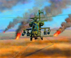 in the Gulf Military Helicopter, Military Aircraft, Ah 64 Apache, British Armed Forces, Aviation Art, Military Art, Warfare, Air Force, Fighter Jets