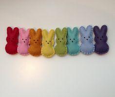 Spring/Easter Bunny Garland rainbow kids room by memeandsaysay, $25.00
