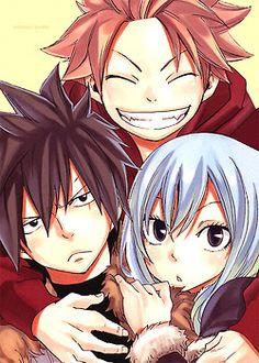 Juvia and Gray manga cover