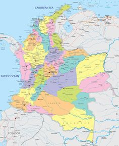 MapasBlog: Mapas da Colômbia