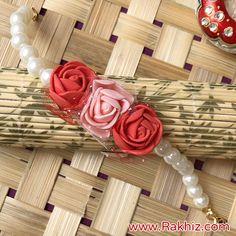 Product Description: Miraculous Pearl Rose Band For Bhabhi Quilling Rakhi, Rakhi Wishes, Happy Raksha Bandhan Images, Felt Flower Template, Handmade Rakhi Designs, Rakhi Cards, Raksha Bandhan Gifts, Rakhi Making, Rakhi Online